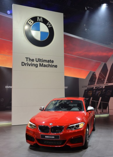 The BMW 235i is presented during the press preview at the North American International Auto Show January 13, 2014 in Detroit, Michigan. (Stan Honda/AFP/Getty Images)