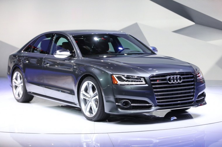 The new AudiS8 crossover vehicle is introduced at the 2014 North American International Auto Show in Detroit, Michigan. (Geoff Robins/AFP/Getty Images)