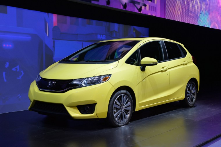 The 2015 Honda Fit is introduced at the North American International Auto Show in Detroit. (Stan Honda/AFP/Getty Images)