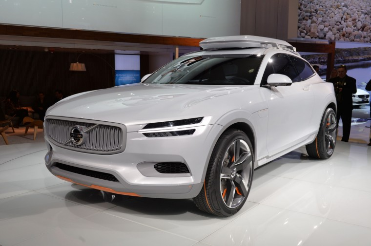 The Volvo XC Coupe concept plug-in hybrid is seen at the North American International Auto Show in Detroit. (Stan Honda/AFP/Getty Images)