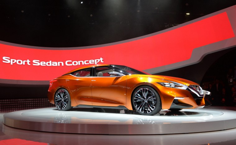 The Nissan Sport Sedan concept car is introduced at the North American International Auto Show in Detroit. (Stan Honda/AFP/Getty Images)