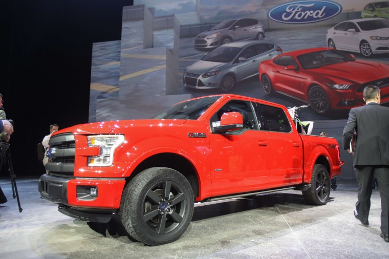 The new Ford F150 is introduced at the 2014 North American International Auto Show in Detroit. (Geoff Robins/AFP/Getty Images)