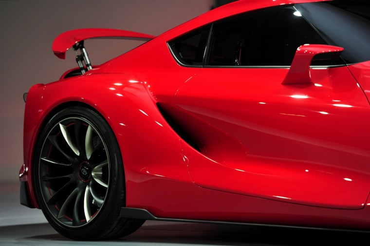 Detail view of the Toyota FT-1 sportscar at the North American International Auto Show in Detroit. (Stan Honda/AFP/Getty Images)