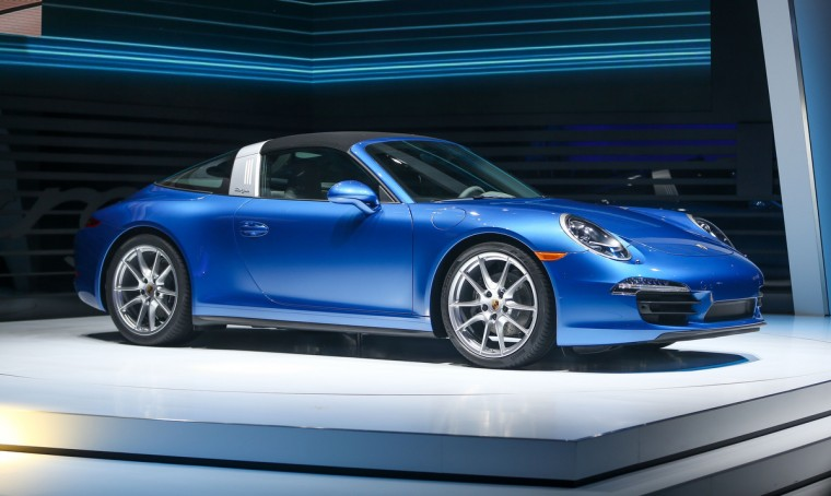 The Porsche 911 Targa is introduced at the 2014 North American International Auto Show in Detroit, Michigan. (Geoff Robins/AFP/Getty Images)