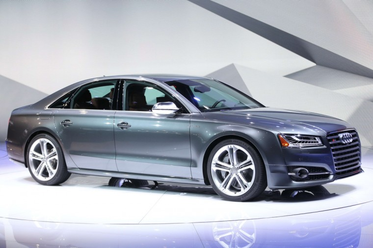 The Audi S8 sedan is introduced at the 2014 North American International Auto Show in Detroit, Michigan. (Geoff Robins/AFP/Getty Images)