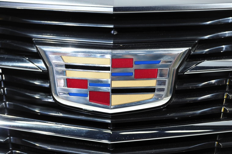 The grille detail of the 2015 Cadillac ATS coupe as it is unveiled at the North American International Auto Showin Detroit, Michigan. (Stan Honda/AFP/Getty Images)