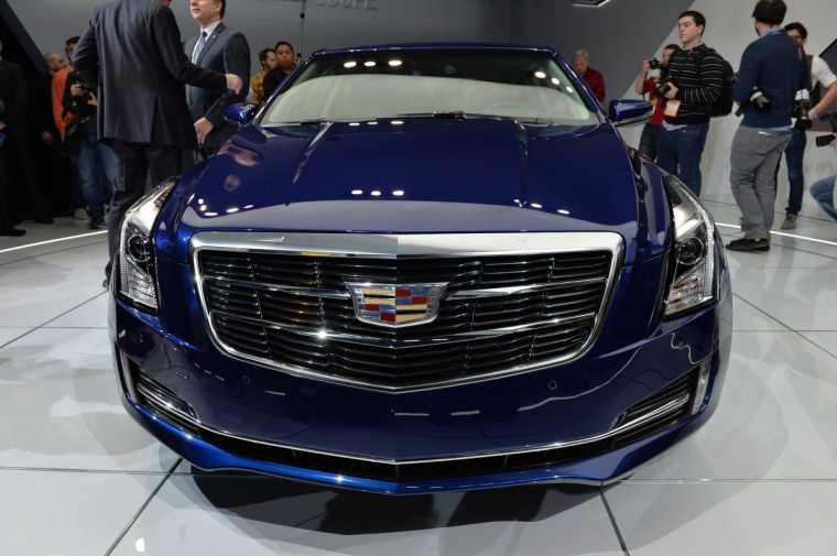 2015 Cadillac ATS coupe is revealed at the North American International Auto Show in Detroit, Michigan. (Stan Honda/AFP/Getty Images)