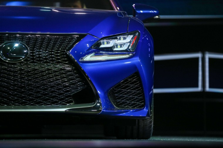 The 2015 Lexus RCF is revealed at the 2014 North American International Auto Show in Detroit, Michigan. (Geoff Robins/AFP/Getty Images)