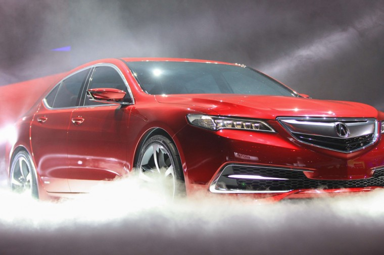 The new Acura TLX prototype is unveiled at the 2014 North American International Auto Show in Detroit. (Geoff Robins/AFP/Getty Images)