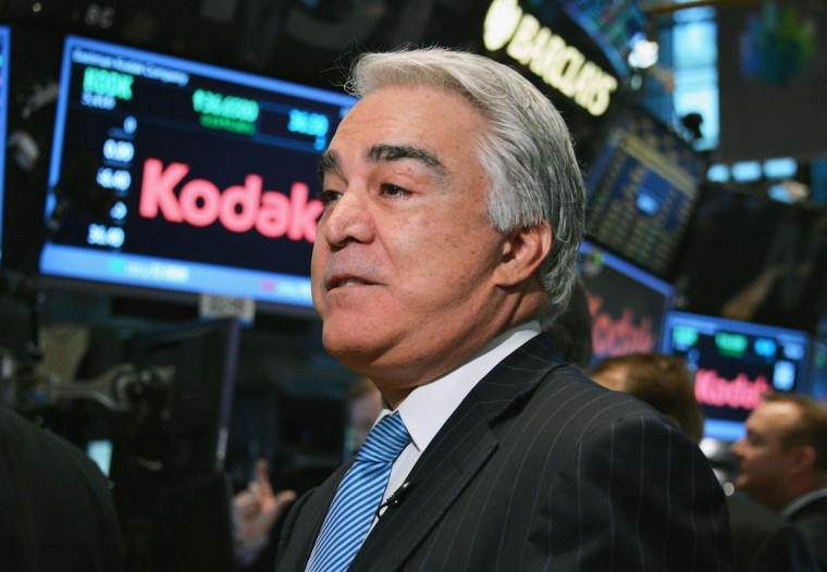 Eastman Kodak Company CEO Antonio M. Perez visits the New York Stock Exchange to highlight Kodak's transformation into a technology company at New York Stock Exchange on January 8, 2014 in New York City. (Slaven Vlasic/Getty Images)