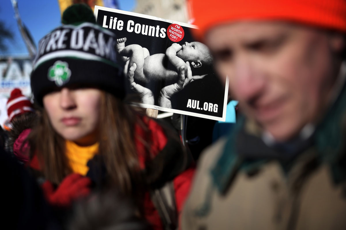 U.S. anti-abortion marchers brave cold in Washington on Roe v. Wade anniversary