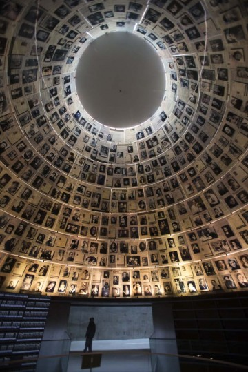 A boy enters the Hall of Names at the Yad Vashem Holocaust museum, which commemorates the six million Jews killed by the Nazis during World War II on January 27, 2014 in Jerusalem, Israel. The international Holocaust Remembrance Day is marked today around the globe. (Uriel Sinai/Getty Images)