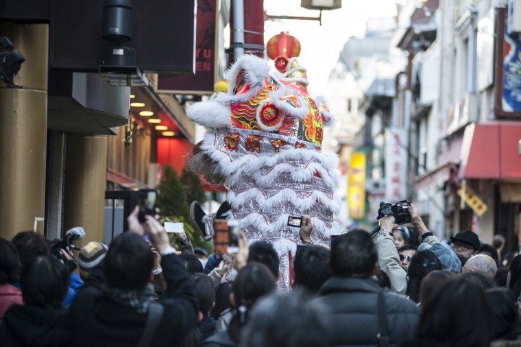 A lion dance is performed in front of the Chinese restaurant in the Yokohama China Town on January 31, 2014 in Yokohama, Japan. It's the Lunar New Year and Year of the Horse, Chinese New Year is an important traditional Chinese holiday and it is celebrated worldwide within Chinese community. (Photo by Keith Tsuji/Getty Images)