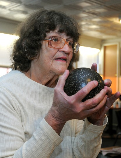 Angeline Heath, 69, from Locust Point, bowls in a senior league at the Patterson Bowling Center. (Algerina Perna/Baltimore Sun)