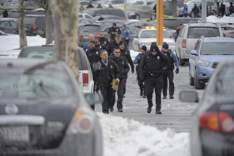 A shooting was reported inside the Columbia Mall Saturday, Jan. 25, 2014. At least three people are confirmed dead, including the shooter, according to news reports claiming police as the source of the information. (Karl Merton Ferron/Baltimore Sun Staff)