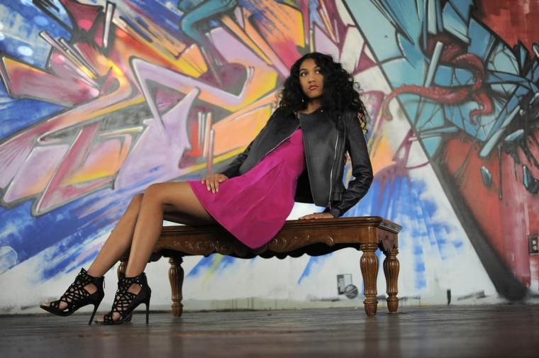 Jay Godfrey dress, L'Apparenza and jaygodfrey.com, $398, Diane von Furstenberg jacket, Handbags in the City, $995; Dolce Vita heels, Sassanova, $184. (Lloyd Fox/Baltimore Sun staff)