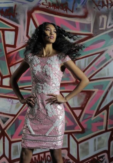 Theia÷ dress, Jones & Jones, $695; Stuart Weitzman÷ heels, Sassanova, $330. (Lloyd Fox/Baltimore Sun staff)