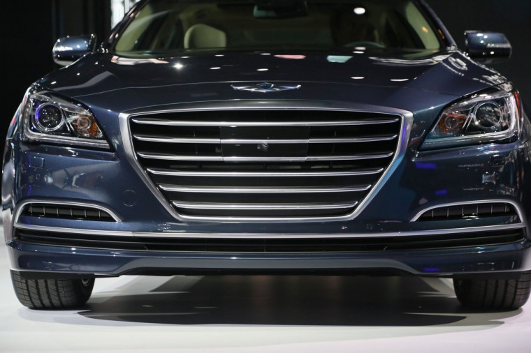 The 2015 Hyundai Genesis is revealed during the the North American International Auto Show held at the Cobo Center in Detroit. ( Kimberly P. Mitchell/Detroit Free Press/MCT)
