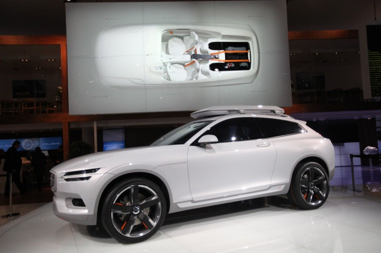 Volvo XC Coupe Concept is revealed to the media during the North American International Auto Show at the Cobo Center in Detroit.(Jessica J. Trevino/Detroit Free Press/MCT)