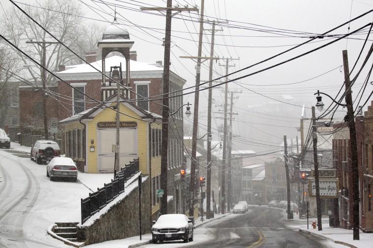 Main Street in Ellicott City, MD on Tuesday, January 21, 2014. (Jen Rynda/BSMG)
