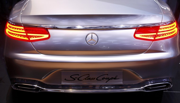 Rear view of the S Class Coupe concept car during the press preview day of the North American International Auto Show in Detroit, Michigan. (Joshua Lott/Reuters)
