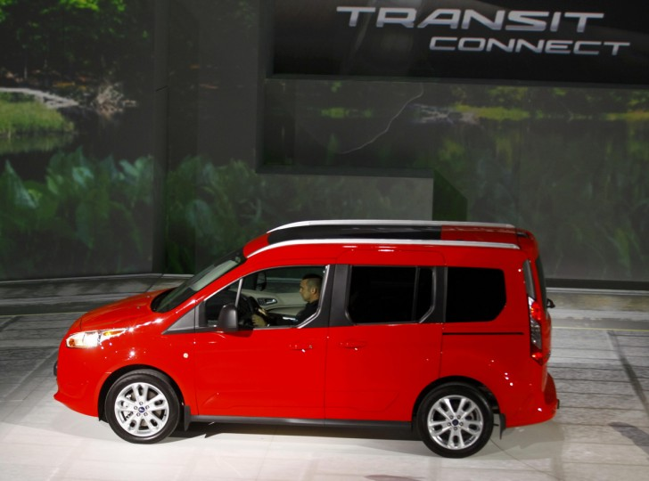 A Ford Transit Connect is displayed during the press preview day of the North American International Auto Show in Detroit, Michigan January 13, 2014. (Joshua Lott/Reuters photo)