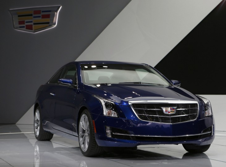 The Cadillac ATS Coupe is unveiled during the North American International Auto Show in Detroit, Michigan. (Rebecca Cook/Reuters)