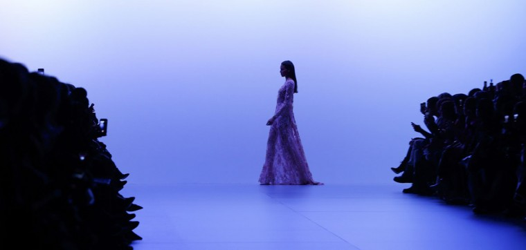 A model presents a creation by Lebanese designer Elie Saab as part of his Haute Couture Spring/Summer 2014 fashion collection for in Paris, January 22, 2014. (REUTERS/Gonzalo Fuentes)