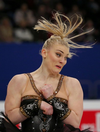 Joshi Helgesson of Sweden performs the Ladies Free Skating at the ISU European Figure Skating Championships in Budapest, January 17, 2014. REUTERS/Laszlo Balogh