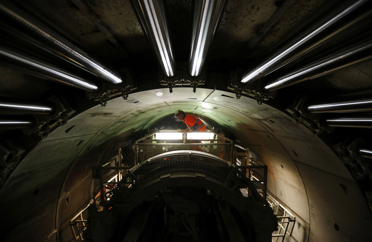 Tunneling under London for Crossrail project