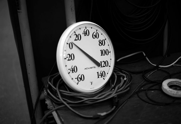The temperature gauge at Lambeau Field in Green Bay, Wis. (Twitter photo)