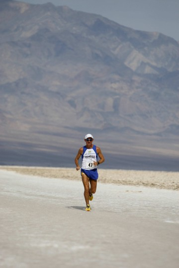 Valmir Nunes, 43, won the Kiehl's Badwater Ultramarathon, a 135-mile run that starts in Death Valley. (Robyn Beck / AFP/Getty Images)