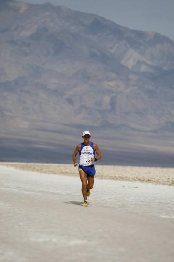 Valmir Nunes, 43, won the Kiehl's Badwater Ultramarathon, a 135-mile run that starts in Death Valley. (Robyn Beck / AFP/Getty Images)