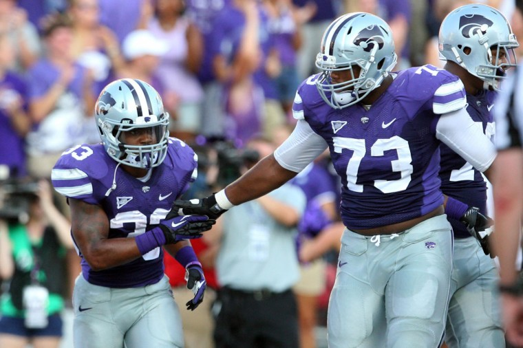 No. 10: Tavon Rooks College: Kansas State Position: Senior Year: Offensive lineman High school: Woodlawn Hometown: Randallstown 2013 recap: Rooks earned All-Big 12 honorable mention accolades after helping the Wildcats to an 8-5 record and a 31-14 win over Michigan in the Buffalo Wild Wings Bowl. Kansas State rushed for 178 yards per game. Photo credit: John Hubert/USA Today Sports