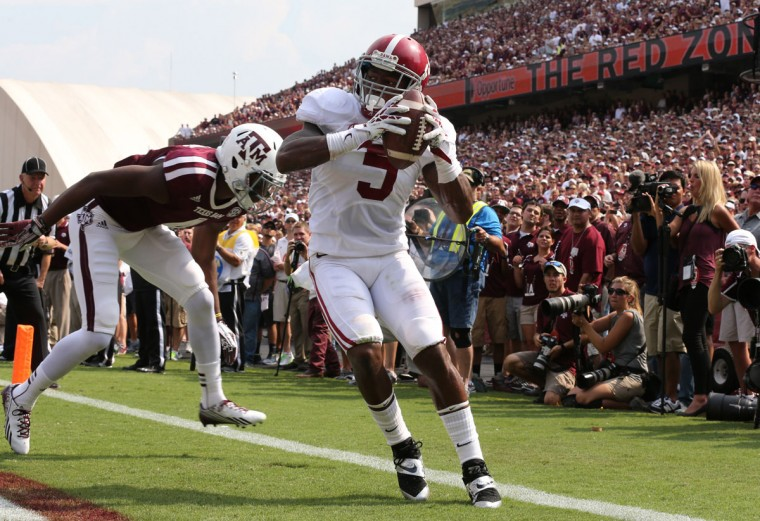 HONORABLE MENTION: Cyrus Jones College: Alabama Position: Cornerback Year: Sophomore High school: Gilman Hometown: Baltimore 2013 recap: After switching from wide receiver to cornerback, Jones earned a starting job and recorded 25 tackles (18 solo), seven passes defended, five pass breakups, two interceptions, 1.5 tackles for loss and one sack. Photo credit: Matthew Emmons/USA Today Sports