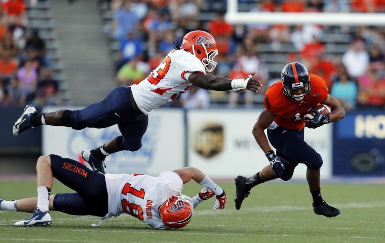 HONORABLE MENTION: Horace Miller College: UTEP Position: Linebacker Year: Senior High school: Dunbar Hometown: Baltimore 2013 recap: Miller tied for fourth on the Miners' roster with 53 tackles (16 solo). He also added one sack, one tackle for loss and one pass breakup. UTEP finished the season 2-10. Photo credit: Ivan Pierre Aguirre/USA Today Sports