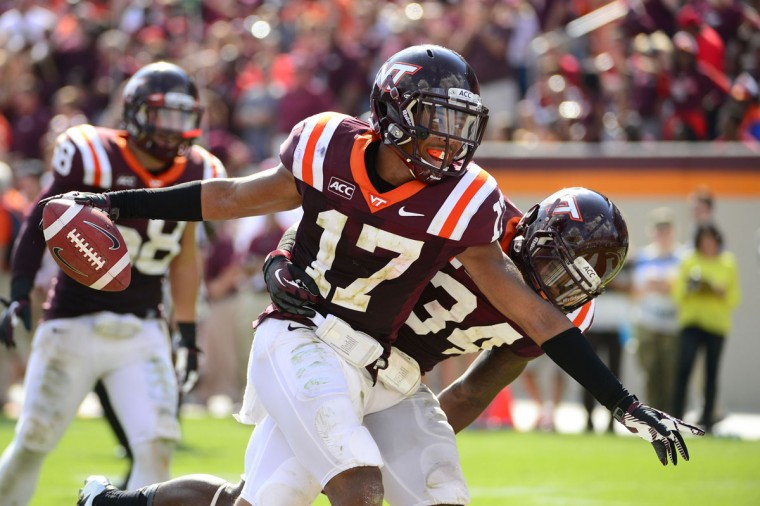 Tied for No. 3: Kyle Fuller College: Virginia Tech Position: Cornerback Year: Senior High school: Mount St. Joseph Hometown: Baltimore 2013 recap: Despite missing three games with an abdominal injury (and playing through pain in a couple others), Fuller put up impressive statistics in earning first-team All-ACC honors by the coaches and being named a second-team All-American by the Walter Camp Foundation. Fuller finished the year with 24 tackles (17 solo), 12 passes defended, 10 pass breakups, two interceptions, two tackles for loss, one quarterback hurry, one forced fumble and one blocked kick. Photo credit: Bob Donnan/USA Today Sports
