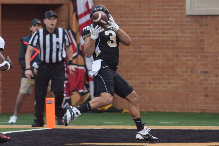 No. 6: Michael Campanaro College: Wake Forest Position: Wide receiver Year: Senior High school: River Hill Hometown: Clarksville 2013 recap: Despite missing the last four games of his college career with a broken collarbone, Campanaro was selected to the All-ACC second-team offense after catching 67 passes for 803 yards and six touchdowns. He finished his Wake Forest career as the program's career leader in receptions with 229, and third all time in receiving yards with 2,506. Photo credit: Jeremy Brevard/USA Today Sports