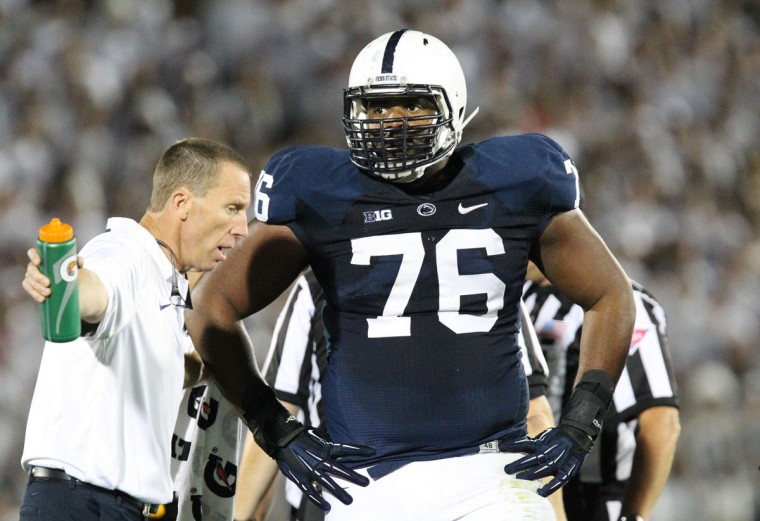 HONORABLE MENTION: Donovan Smith College: Penn State Position: Offensive lineman Year: Junior High school: Owings Mills Hometown: Owings Mills 2013 recap: Smith earned All-Big Ten honorable mention honors and was named to Phil Steele's third-team All-Big Ten offense. Photo credit: Matthew OHaren/USA Today Sports