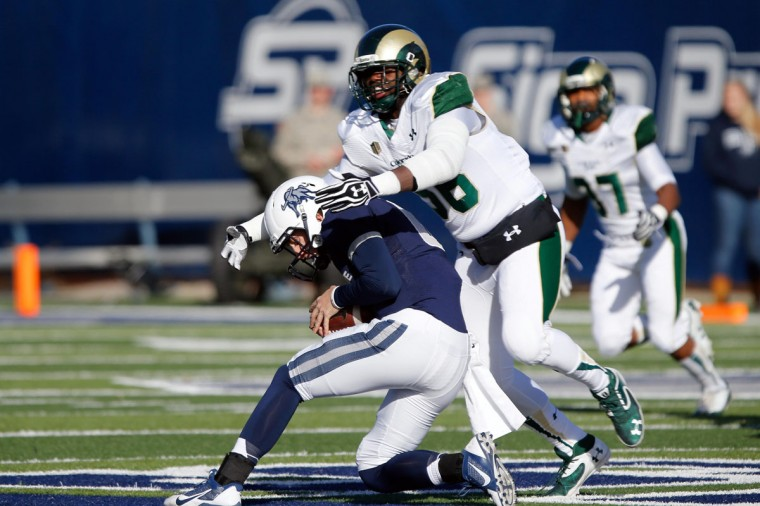 No. 1: Shaquil Barrett College: Colorado State Position: Linebacker Year: Senior High school: Boys Town (Neb.) Hometown: Baltimore 2013 recap: The 2013 Mountain West Defensive Player of the Year, Barrett was tied for third nationally in sacks (12) and fourth in tackles for loss (20.5). He also recorded 80 tackles, six quarterback hurries, four forced fumbles, three blocked kicks, three passes defended, two pass breakups, two fumble recoveries and one interception. Barrett was named MVP of the New Mexico Bowl after forcing a fumble late in the game, which led to a 48-45 win for Colorado State (8-6) over Washington State. Photo credit: Chris Nicoll/USA Today Sports