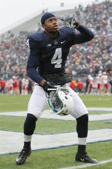 No. 7: Adrian Amos College: Penn State Position: Cornerback Year: Junior High school: Calvert Hall Hometown: Baltimore 2013 recap: Amos appeared in all 12 games for the Nittany Lions (7-5), contributing 50 tackles (32 solo), six passes defended, five pass breakups, four tackles for loss, 2.5 sacks and one interception. He earned All-Big Ten honorable mention honors. Photo credit: Matthew OHaren/USA Today Sports
