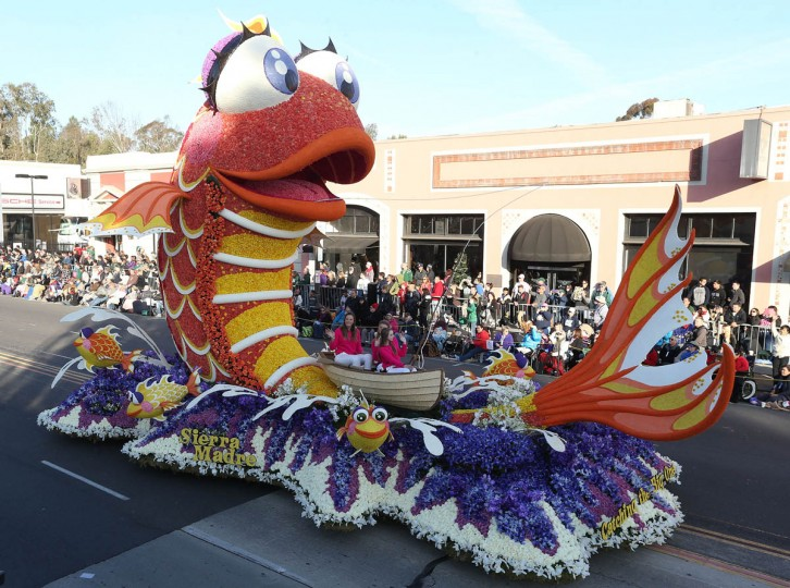 The Sierra Madre float on the parade route during the 125th Rose Parade. (Frederick M. Brown/Getty Images)