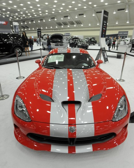 A 2014 Dodge Viper GTS Coupe on display at 2014 Motor Trend International Auto Show at the Baltimore Convention Center. (Lloyd Fox/Baltimore Sun)