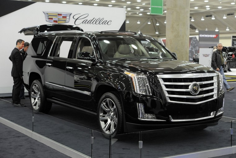 A 2015 Cadillac Escalade prototype on display at 2014 Motor Trend International Auto Show at the Baltimore Convention Center. (Lloyd Fox/Baltimore Sun)
