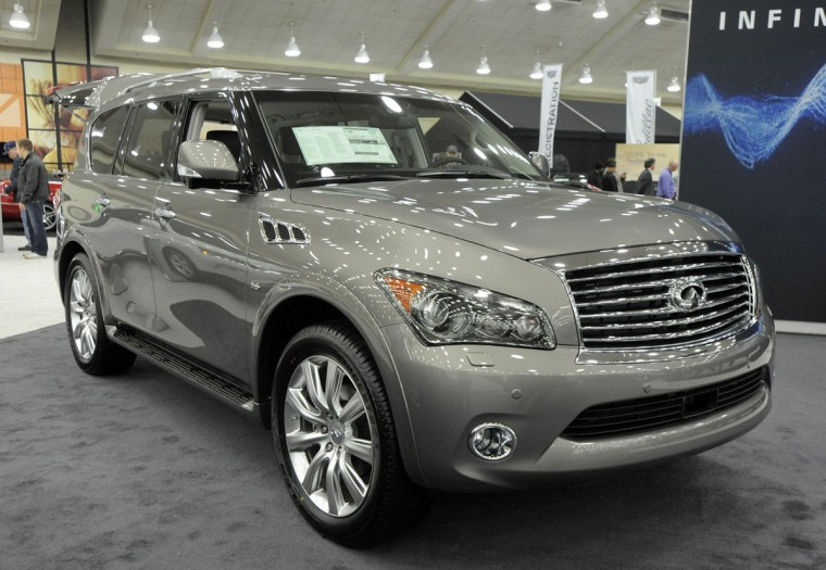 A 2014 Infinity QX80 AWD on display at 2014 Motor Trend International Auto Show at the Baltimore Convention Center. (Lloyd Fox/Baltimore Sun)