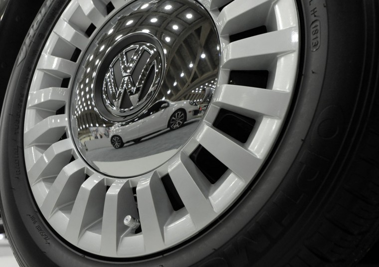 Wheels of a 2014 Volkswagen Beetle Convertible. 2014 Motor Trend International Auto Show at the Baltimore Convention Center. (Lloyd Fox/Baltimore Sun)