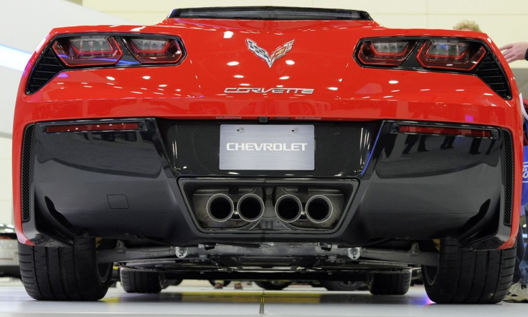 A 2014 Corvette Stingray on display at the 2014 Motor Trend International Auto Show at the Baltimore Convention Center. (Lloyd Fox/Baltimore Sun)