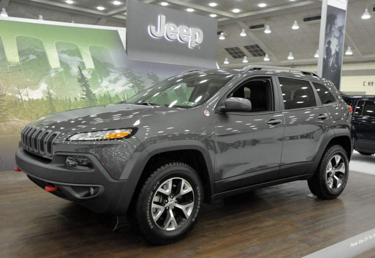 A Jeep Cherokee Trailhawk 4x4 on display at the 2014 Motor Trend International Auto Show at the Baltimore Convention Center. (Lloyd Fox/Baltimore Sun)