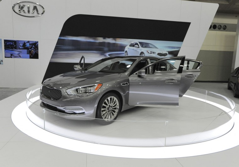 A 2015 KIA K900 V8 on display at the 2014 Motor Trend International Auto Show at the Baltimore Convention Center. (Lloyd Fox/Baltimore Sun)