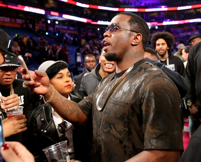Sean Combs attends the Sprite Slam Dunk Contest 2014 as part of the 2014 NBA All-Star Weekend at the Smoothie King Center on February 15, 2014 in New Orleans, Louisiana. (Ronald Martinez/USA Today Sports)